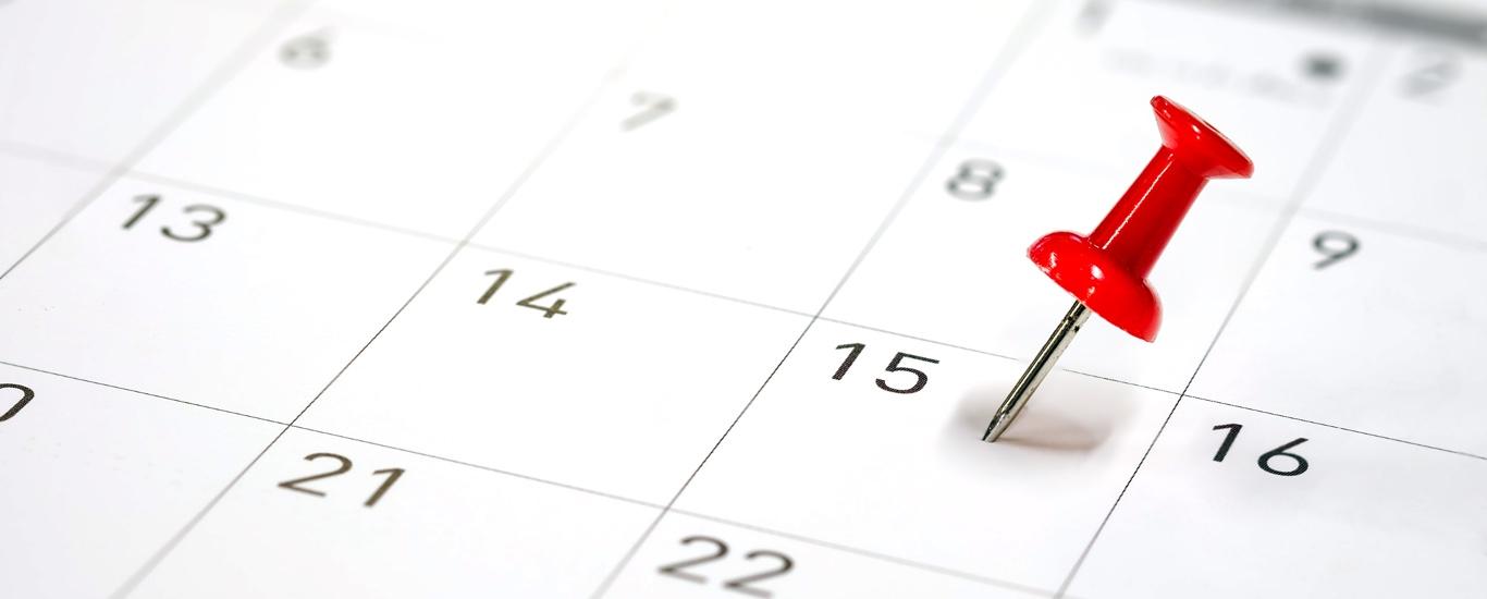 Calendar marking a GED® test date.
